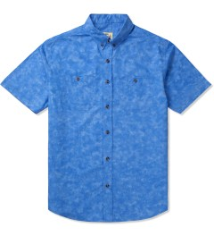Jiberish Blue Marbled S/S Button Down Shirt Picutre