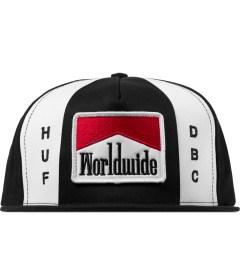 HUF Black Worldwide Snapback Cap Picutre