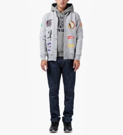 Billionaire Boys Club Grey Billionaire College Pop Over Hoodie Model Picutre