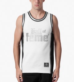 Hall of Fame White Nix Basketball Jersey Model Picutre