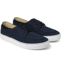 E.R SOULIERS DE SKATE Navy Tweed/Navy Nappa Shoes Model Picutre