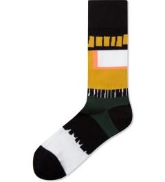 Henrik Vibskov Black/Yellow Cayenne Socks Picutre