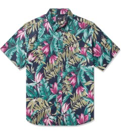HUF Navy Waikiki S/S Woven Shirt Picutre
