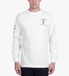 BEENTRILL White Injustice L/S T-Shirt Model Picutre
