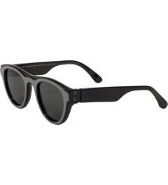 MYKITA Mykita x Maison Martin Margiela Black/Black MMDUAL003 Dark Grey Solid Sunglasses Model Picutre