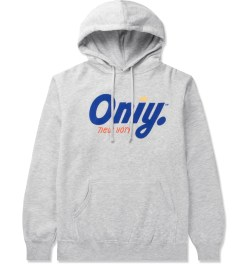 ONLY Heather Grey Crown Logo Pullover Hoodie Picutre