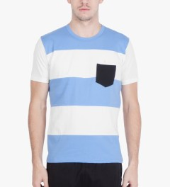 Aloye Aloye x WONG WONG White/Sky Blue Argentina Color Blocked S/S T-Shirt Model Picutre