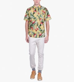HUF Yellow Birds of Paradise S/S Woven Shirt Model Picutre