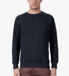 Publish Navy Irons Crewneck Sweater Model Picutre