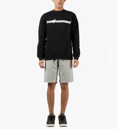 The Hundreds Black Forever Bar Crewneck Sweater Model Picutre