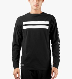 Grand Scheme Black Renegade L/S T-Shirt Model Picutre