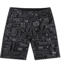 The Hundreds Black Geo Otis Board Short Picutre