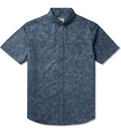 Jiberish Indigo Marbled S/S Button Down Shirt Picutre