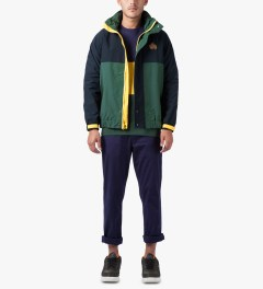HUF Navy/Green Atlantic Jacket Model Picutre