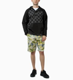 Stussy Black Check Pullover Jacket Model Picutre