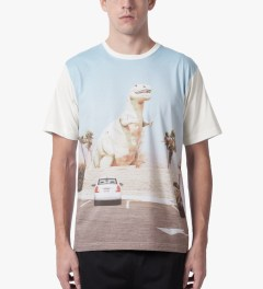 The Quiet Life White Premium Roadside T-Shirt Model Picutre