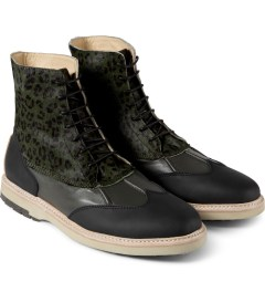 Thorocraft Black Harloe Shoes Model Picutre