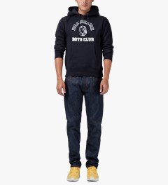 Billionaire Boys Club Navy Billionaire College Pop Over Hoodie Model Picutre