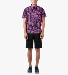 HUF Black Twill Walk Shorts Model Picutre