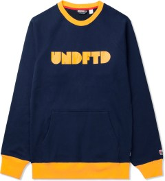 Undefeated Navy Capitol Crewneck Sweater Picutre