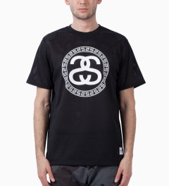 Stussy Black Mesh SS T-Shirt Model Picutre