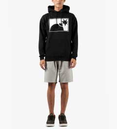 The Hundreds Black Forever Half-bomb Pullover Hooded Sweater Model Picutre