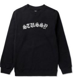 Stussy Black Gothic EMB. Sweater Picutre