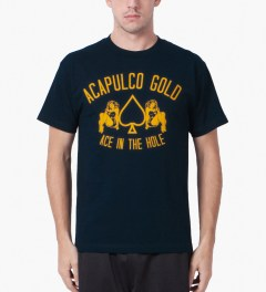 Acapulco Gold Navy Ace In The Hole T-Shirt Model Picutre