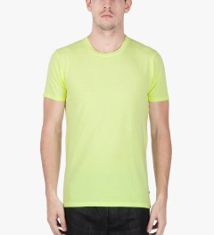Surface to Air Fluorescent Yellow Washed Out T-Shirt Model Picutre