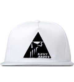 A Cut Above White Pyramid 5 Panel Snapback Picutre
