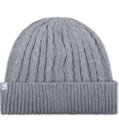 Deluxe Grey Feather Beanie Picutre