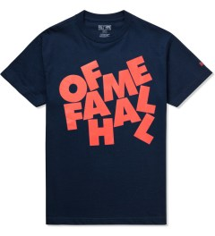 Hall of Fame Navy Stacked T-Shirt Picutre