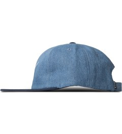 HUF Navy Denim Script 6-Panel Cap Model Picutre