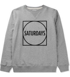 SATURDAYS Surf NYC Heather Grey Bowery Circle Square Sweater Picutre