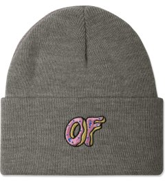 Odd Future Grey OF Donut Beanie Picutre