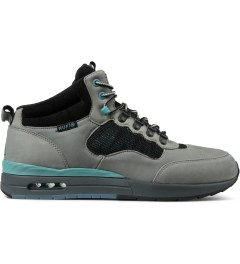 HUF Grey/Aqua Full Grain Leather/Suede HR-1 Shoes Picutre