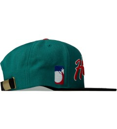 The Hundreds Turquoise Team Two Snapback Model Picutre
