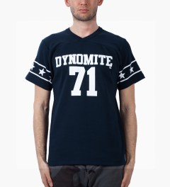 Mark McNairy Navy DYNOMITE 71 T-Shirt Model Picutre