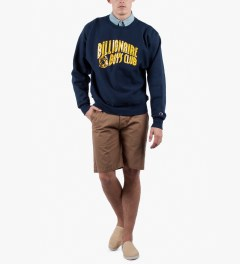 Billionaire Boys Club Navy Billionaire Boys Club x Champion S/S Classic Arch Logo Sweater Model Picutre