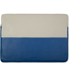 "Wood Wood Blue/Aluminium 15"" Laptop Bag Picutre"