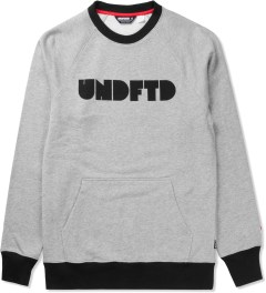 Undefeated Grey Heather Capitol Crewneck Sweater Picutre