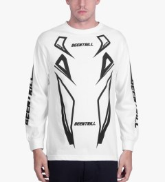 BEENTRILL White Moto L/S T-Shirt Model Picutre