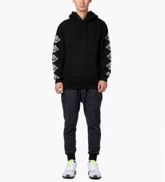 CLUB 75 HUF x Club 75 Black Pullover Hoodie Model Picutre