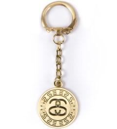 Stussy Gold Greek Keychain Picutre