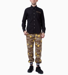 Mark McNairy Black L/S Holy Shirt Model Picutre