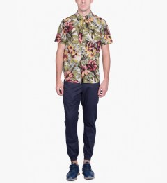 Stussy Natural Island Flower Shirt Model Picutre