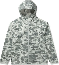 Reigning Champ Heather Grey RC-4019-2 Woven Camo Printed L/S Hooded Zip Jacket Picutre