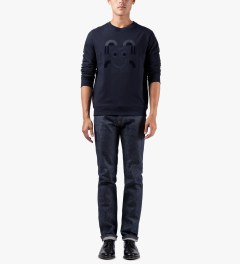 A.P.C. Navy Mister T Sweater Model Picutre