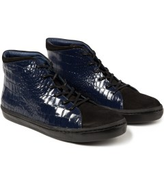 Opening Ceremony Navy Classic High Top Shoes Model Picutre