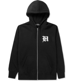 The Hundreds Black Old H Zip Up Hoodie Picutre
